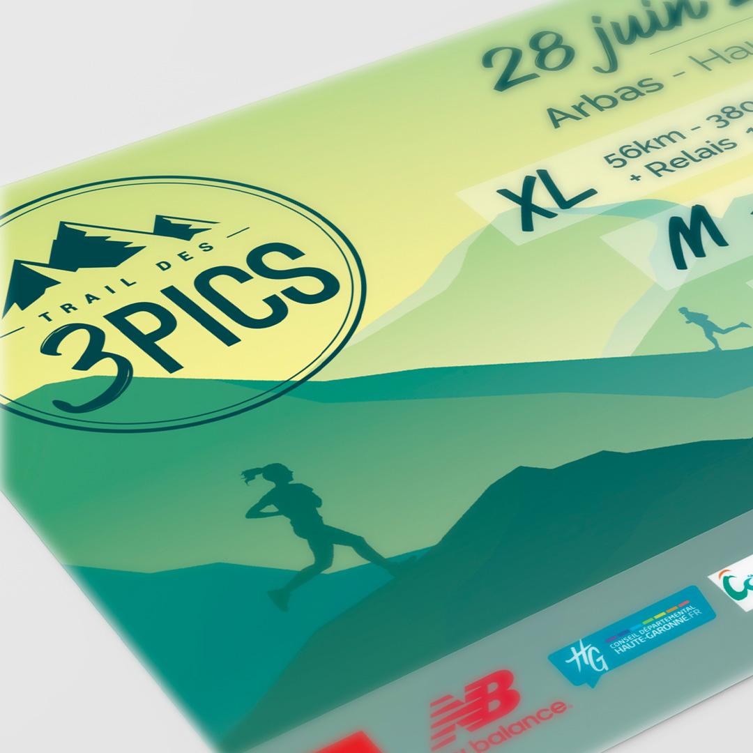 Édition 2020, création du flyer de promotion du trail, Arbas, Pyrénées