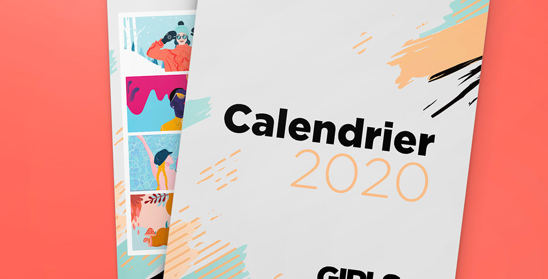 Calendrier 2020 illustré par le collectif.