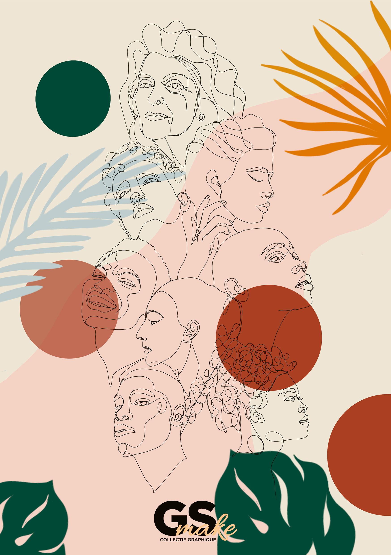 Girslamakesense, graphisme, illustrations, lineart, portrait