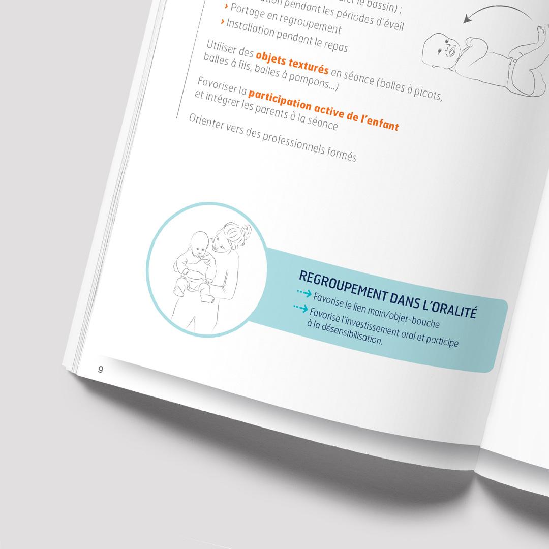 Mise en page d'une plaquette sur l'oralite pour l'université de Montpellier. Livret sous format papier et digital.